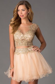 Short Two Piece Prom Dress