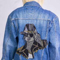 Michael Jackson Denim Jacket Womens Jean Jacket for Casual | Etsy Coachella, Harley Quinn, Michael Jackson, Boho, Nike, Jackets For Women, Kimono, Denim, Etsy