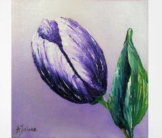 Original painting Canvas art Purple painting by AlinaJelvezFineArt