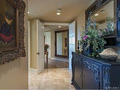 Formal traditional condo foyer in Park Shore, Naples, FL