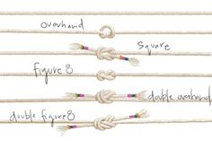 KNOTS  Fancy knots for your fancy belt. Practice for sailing, climbing, and knot tying season (if that's even a thing?) with these knot tying lessons.
