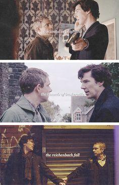 Sherlock & John - Johnlock started with constant eye-f*cking! Sherlock Poster, Sherlock Holmes, Sherlock Fandom, Sherlock John, Sherlock Bored, Sherlock Season, Sherlock Series, John Watson, Martin Freeman