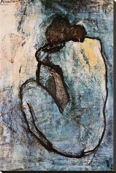 Blue Nude, c.1902  by Pablo Picasso.  I absolutely love Picasso's Blue period.