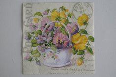 ONE Paper napkin for decoupage Floral napkin by NapkinsDeco