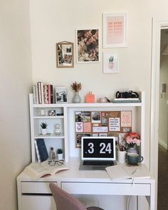 Ideas For Bedroom Desk Ikea Study Room Decor, Room Ideas Bedroom, Bedroom Ideas For Small Rooms, Diy For Room, Bedroom Decor Teen, College Bedroom Decor, Kid Bedrooms, Study Rooms, Cute Dorm Rooms