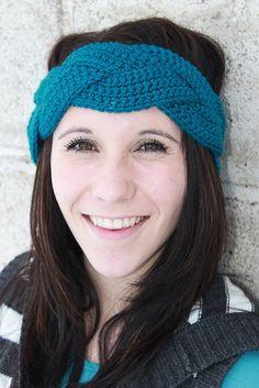 Braided Crochet Earwarmer - Braided Crochet Headband - Custom Options Available