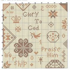 Glory to God - free Quaker pattern