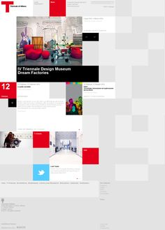 Unique squared #webdesign #trends