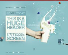 NO MILK TODAY - The milky portfolio of a belgian webdesigner - CoolHomepages Web Design Gallery