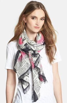 HAVE to promote the kate spade new york 'newspaper' scarf available at #Nordstrom!