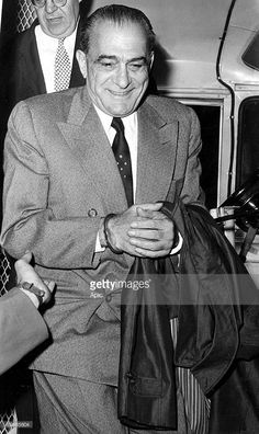 Vito Genovese (1897-1969) mafioso known as Boss of the bosses, here when he arrived in New York in 1959.
