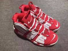 reputable site 6530b 85fe1 Cheapest Popular 2018 Supreme x Nike Air More Uptempo Varsity Red White  902290-600 Nike