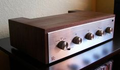 finally picked it up today! and it sound absolutly wonderfull! a perfect match with my Tannoys :music: it does seem that the phono stage is out. Audio Design, Audio Room, Wooden Case, Vintage Tv, Audio Equipment, Tv On The Radio, Audiophile, Radios, Acoustic