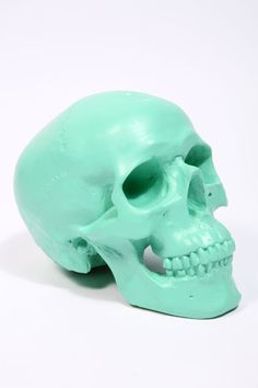 I have this weird obsession with skulls. This is a piggy bank currently on my dresser.