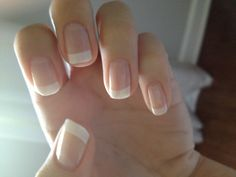 Classic french manicure on real nails