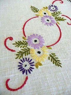 Supreme Best Stitches In Embroidery Ideas. Spectacular Best Stitches In Embroidery Ideas. Hand Embroidery Flowers, Hand Embroidery Stitches, Hand Embroidery Designs, Vintage Embroidery, Ribbon Embroidery, Embroidery Art, Cross Stitch Embroidery, Machine Embroidery, Sewing Crafts