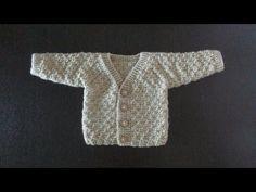 Детская кофта одной деталью для ребенка от 4 месяцев. Часть 1 (полочка и рукав) - YouTube