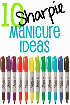 10 Sharpie Manicure Ideas - REALLY CUTE IDEAS FOR THOSE WHO LOVE TO DO THEIR NAILS!