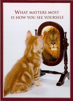 U have to love urself for u so when looking in the mirro u have to like what you see
