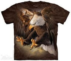 The Mountain Unisex Erwachsen Freedom Adler Vogel T Shirt Bald Eagle Talons, Eagle Design, 3d T Shirts, Tye Dye, Unisex, Cool Tees, Thing 1, Collage, Cotton Tee