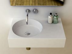 Omvivo sink - very small footprint for our tiny powder room                                                                                                                                                     More
