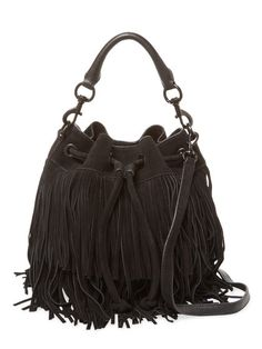 Fiona Fringe Leather Bucket Bag by Rebecca Minkoff at Gilt