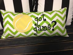 12x24 Custom Tennis Pillow Got Game by SewSwankyInteriors on Etsy, $45.00