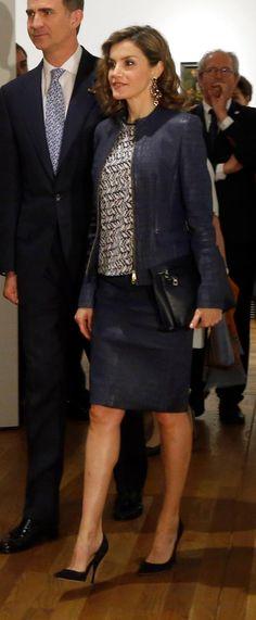 Queen Letizia of Spain attends the 'El Bosco' 5th Centenary Anniversary Exhibition at the El Prado Museum on May 27 2016 in Madrid Spain