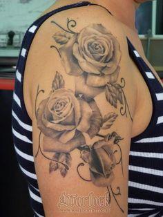 #tattoo #sleeve #half # rose