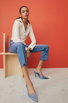 HEELED SLINGBACKS | ZARA United States High Heels Stilettos, Stiletto Heels, Camilla Elphick, Slingback Shoes, Slingbacks, Zara United States, Fashion, Heels, Colors