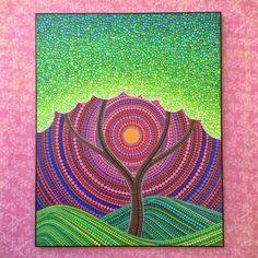 Colores impresión laminada en madera-árbol de la por ElspethMcLean