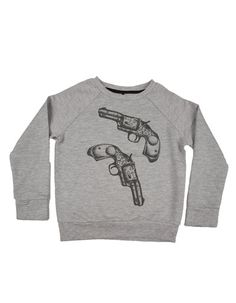 Little Pieces - Grey sweater with revolvers - Pepatino.be