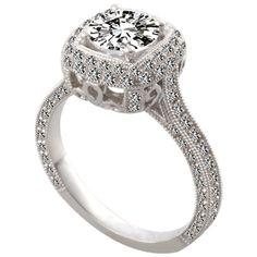 Fleur-de-Lis Engagement Ring by http://www.engagediamonds.com/