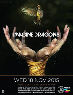 18 November 2015 @ - Imagine Dragons, the Smoke and Mirrors tour Ticket, Smoke And Mirrors, Imagine Dragons, Album, November 2015, Movie Posters, Concert, Film Poster, Billboard