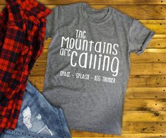 The Disney Mountains are Calling, Disney Shirt, Splash Mountain, Space Mountain, Big Thunder Mountain, Adult Disney Shirt, Disney World by RusticandRitzyHD on Etsy https://www.etsy.com/listing/572539933/the-disney-mountains-are-calling-disney
