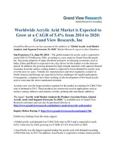 GrandviewresearchCom Has Announced The Addition Of  Asia Pacific
