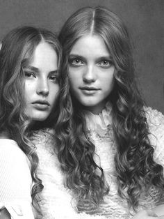 "beedonaldson:  Ruslana Korshunova and Vlada Roslyakova in ""Broken Dolls"" by Patrick Demarchelier for Vogue Italia February 2006"
