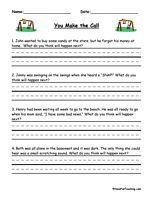 You Make The Call Inferences Worksheet School Things Pinterest
