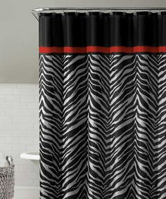 Take a look at this Black Kara Shower Curtain Set by Victoria Classics on #zulily today! $10 !!