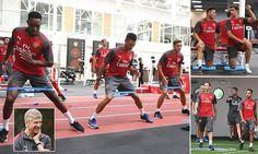 Arsenal pre-season training: Mesut Ozil and Co return