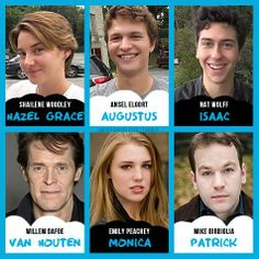 "The Fault in our Stars casting! Monica's perfect, Van houten is awesome. So they got the ""U make me so mad I can not believe u treated them that way"" characters down."
