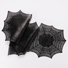 Midnight Market Halloween Vinyl Spiderweb Table Runner 13…