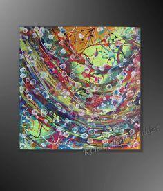 Acrylbild abstrakt Spring  50x50x3,8cm Titel: Spring