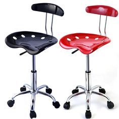 49.88$  Watch now - http://alizg7.worldwells.pw/go.php?t=32704112825 - Factory direct saling 1PC Adjustable Bar Stools ABS Tractor Seat Swivel Chrome Kitchen Breakfast Black Red  HW48530 49.88$