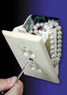Hidden Wall Safe Fake Electrical Outlet Stash your Cash, Jewelry Valuables in Home & Garden, Home Improvement, Home Security Faux Murs, Secret Walls, Fake Walls, Diversion Safe, Hidden Safe, Secret Hiding Places, Wall Safe, Safe Room, Electrical Outlets