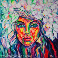 Acrylmalerei - GEMÄLDE - SPRING - Bild  Margarita Kriebitzsch - ein Designerstück von scharfe-auftritte-de bei DaWanda #Margarita #Kriebitzsch #MargaritaArt -Spring #Gemaelde #Painting #Portrait #PopArt #Flowers #Face #Woman #Frauen #Bild #Bilder #Hamburg #Kunst
