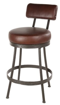 "Stone County Ironworks 904-460-LPC Cedarvale Barstool (No Arm) 30"" (with swivel)"