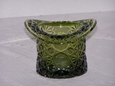 Green Glass Top Hat Vase Toothpick Holder Fenton Daisy Buttons | LilacsNDreams - Collectibles on ArtFire, I TO HAVE THIS ITEM. Ask EvezBeadz.artfire.com If you would like to purchase mine~$15 free ship