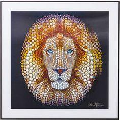 Tableau 3D Lion Head 60x60cm