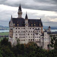 Castle Neuschwanstein in Schwangau .Germany.